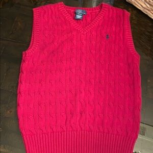 EUC Ralph Lauren medium boys knit sweater vest